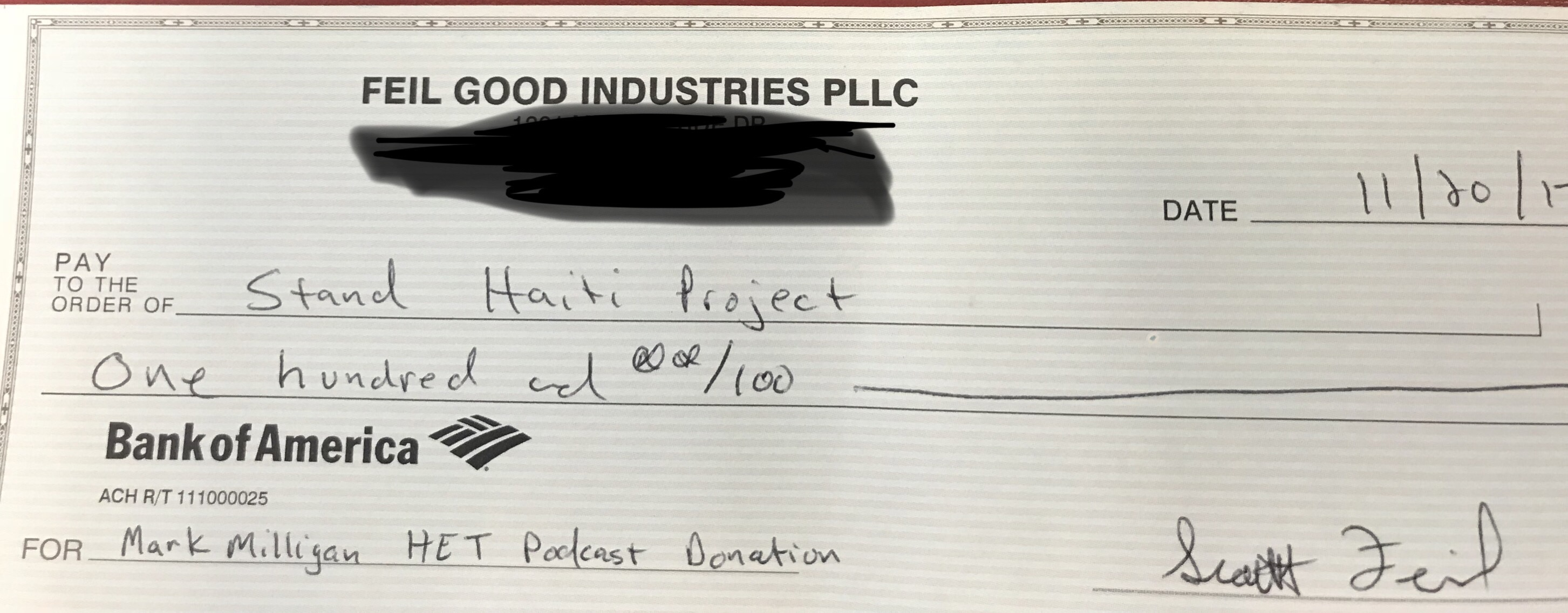 Stand Haiti Project Donation