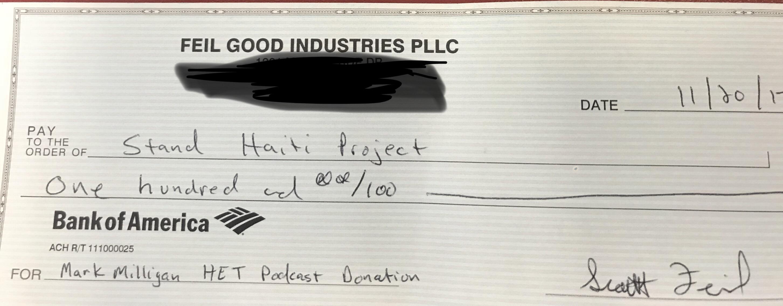 Stand Haiti Project Donation