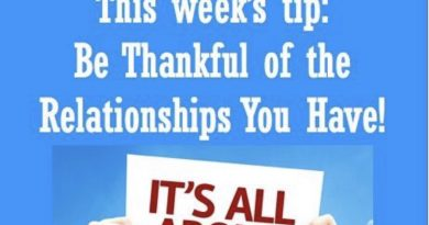 Wellfie Wednesday: Be Thankful of the Relationships You Have!