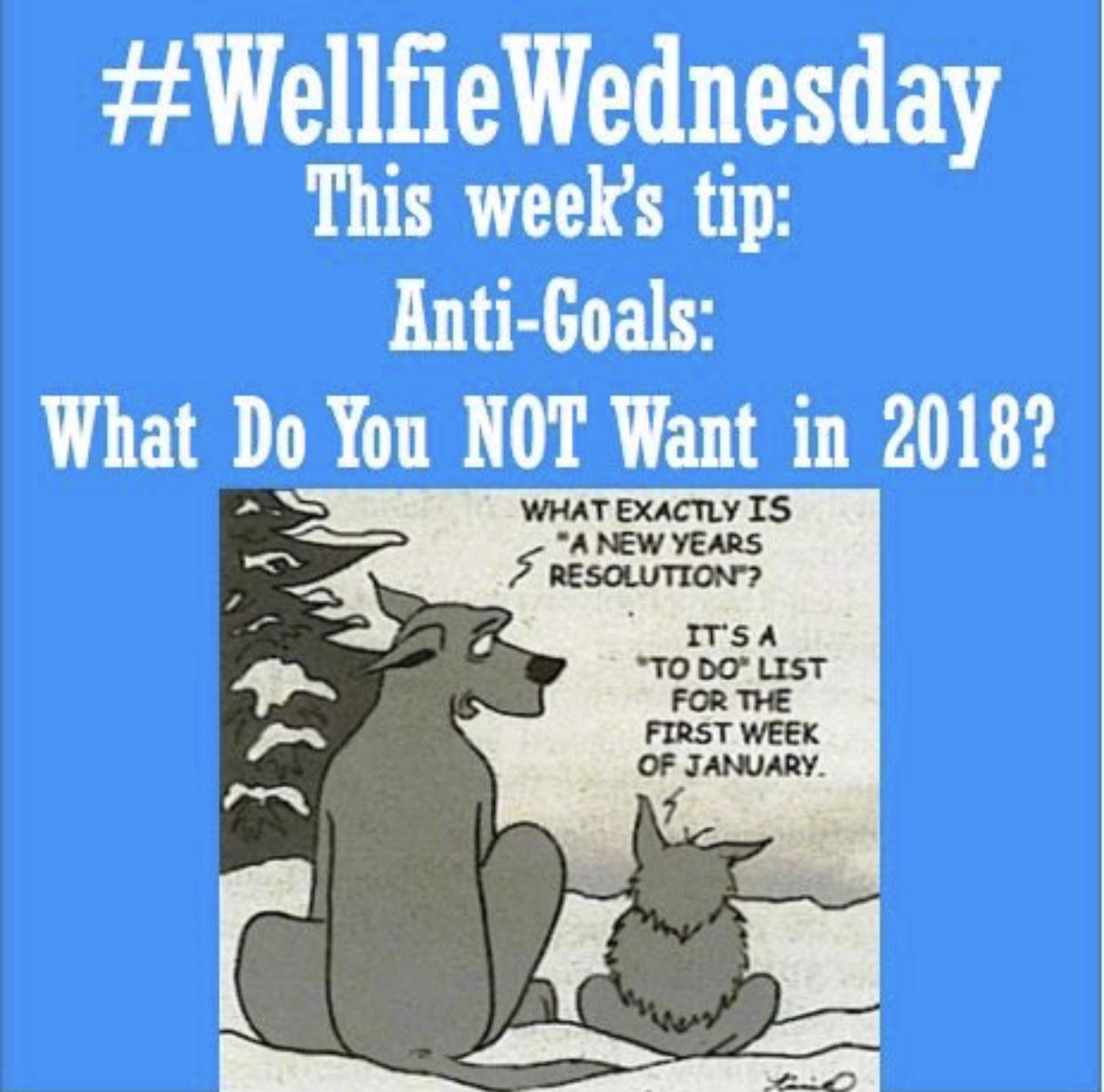Welfie Wednesday: Anti Goals