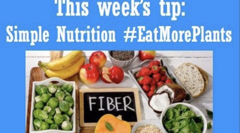 Wellfie Wednesday: Eat More Plants (The Fiber Diaries)