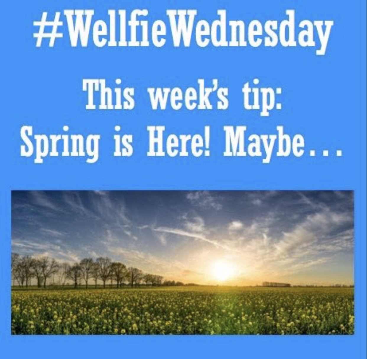 Wellfie Wednesday Blog Post: Spring is here! Maybe...