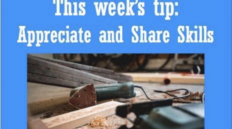 Wellfie Wednesday:Appreciate and Share Skills